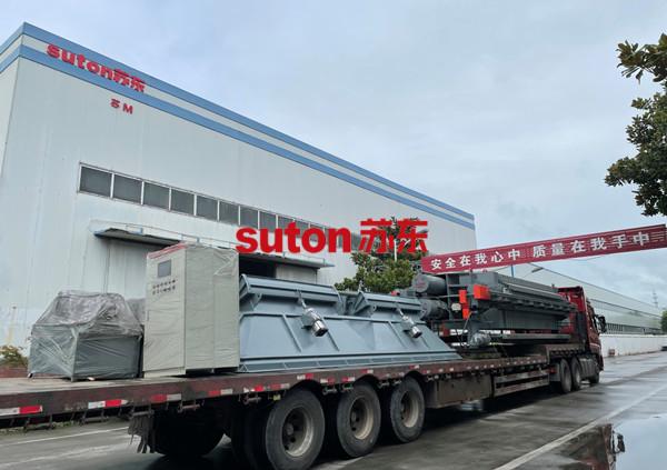 蘇東市政污水成套壓濾機設備助力邯鄲客戶增產提效